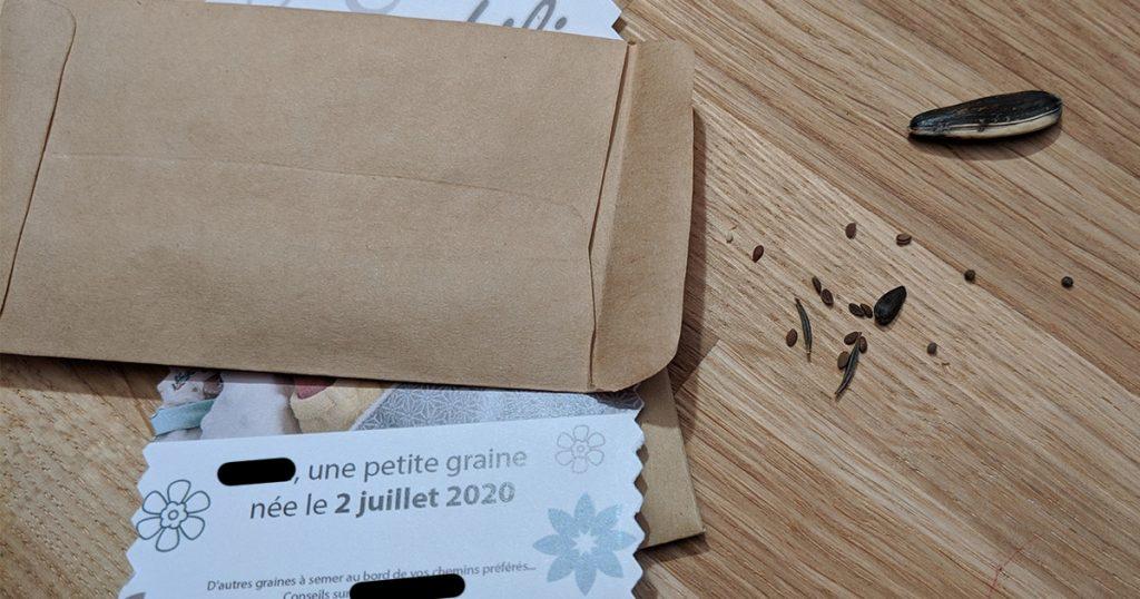 faire part avec des graines