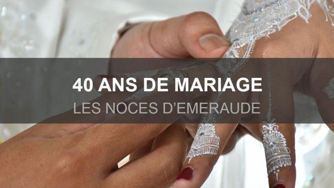 40 ans de mariage