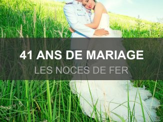 41 ans mariage