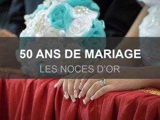 De l'or pour les 50 ans de mariage