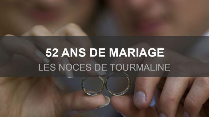 52 ans de mariage