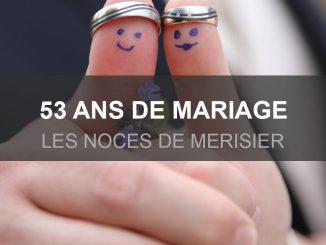 53 ans de mariage
