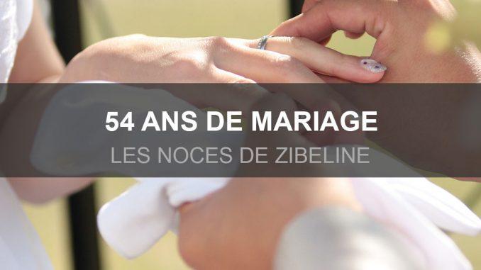 54 ans de mariage