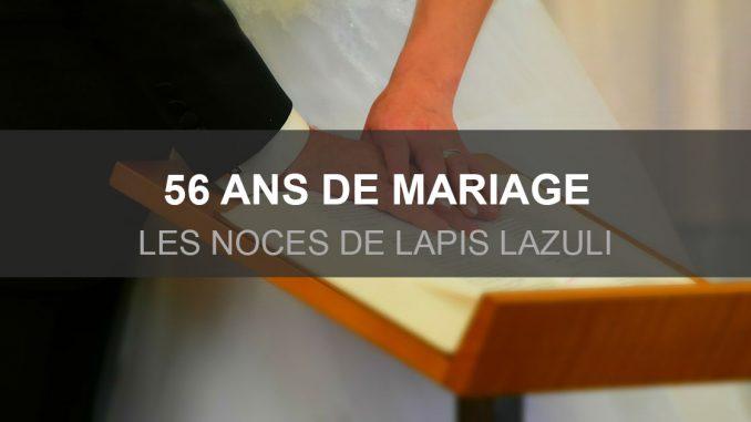 56 ans de mariage : les noces de Lapis-lazuli
