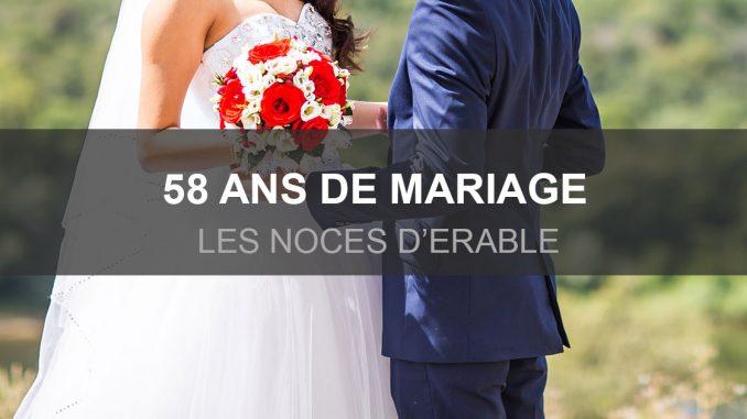 58 ans de mariage