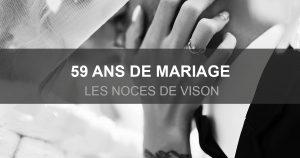 59 ans de mariage
