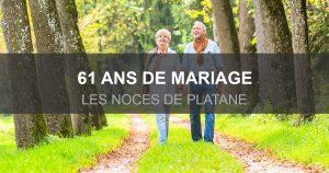 61 ans de mariage